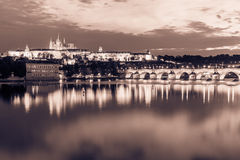 Points de repère historiques de Prague Photographie stock