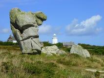 Points de repère sur l'île de St Agnès Image libre de droits