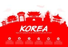 Points de repère de voyage de la Corée Image libre de droits