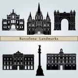 Points de repère et monuments de Barcelone Images libres de droits
