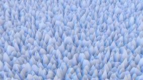 Points et coins se composants extérieurs avec les lignes extérieures blanches dans le bleu de couleur illustration stock