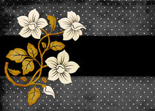 Points et fond de fleurs Photos stock