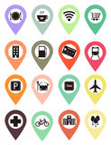 POINTS OF INTEREST ICONS Stock Photos