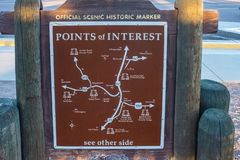 Official scenic historic marker royalty free stock images