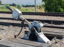 Points level on Railway track New Zealand Stock Photo