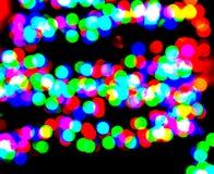 Points lumineux colorés abstraits Photographie stock