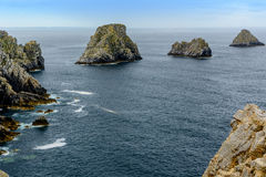 Points of Pen-Hir, Presque ile de Crozon, Brittany, France Royalty Free Stock Photo