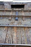 Points rods from signal box. Royalty Free Stock Images