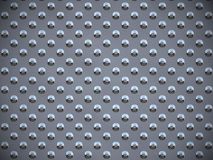 Points ronds en métal - gris Photo libre de droits