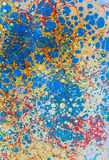 Points rouges jaunes bleus de papier d'Ebru Images libres de droits