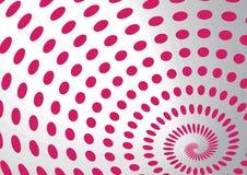 Points se développants en spirales Photos libres de droits