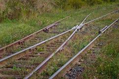 Points sur la voie de chemin de fer photos stock