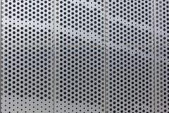 Points sur un fond de texture de modèle de surface métallique photographie stock