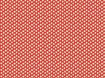 Points tirés par la main beiges sur le modèle sans couture de fond rouge illustration libre de droits