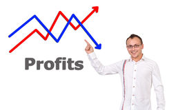 Points to growth chart Stock Photo