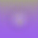 Points tramés comiques vert clair de résumé sur le fond violet illustration libre de droits
