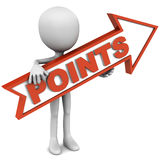 Points. Word on an arrow showing towards right, concept of bullet or numbered Royalty Free Stock Photos