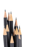 Pointy black pencils Royalty Free Stock Image