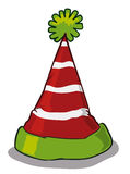 Pointy Elf Hat Isolated, Vector Illustration royalty free stock photography