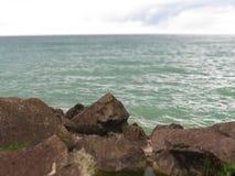 Pointy rock, port Maitland, Ontario. Pointy rock view from Port Maitland,Ontario Canada royalty free stock photo
