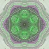 Pointy star pattern, green kaleidoscopic petal mandala. Pointy star pattern, green kaleidoscopic petal Stock Photos