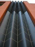 Pointy wall. Look up a jagged wall royalty free stock photos