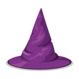 Pointy Wtch Hat Isolated, Vector Illustration Royalty Free Stock Photo