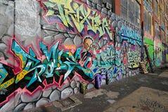 pointz för fem grafitti Arkivfoton