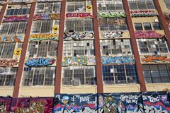 5Pointz malowidła ścienne w Long Island mieście w Nowy Jork obraz stock