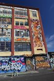5Pointz muurschilderingen in Long Island-Stad in New York Stock Afbeeldingen