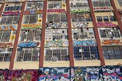 5Pointz muurschilderingen in Long Island-Stad in New York Stock Afbeelding
