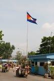 Poipet. Confine Cambogiano-tailandese Fotografia Stock Libera da Diritti