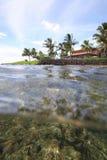 Poipu, Kauai. A scenic view of Poipu on Kauai, as seen from the water Royalty Free Stock Photo