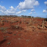 Poipu Kauai desert graveyard Royalty Free Stock Image