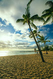 Poipu plaży park, Kauai, hawai'i obraz stock