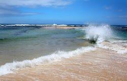 Poipu strand, Kauai, Hawaii, USA Arkivbild