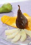 Poire de chocolat Image libre de droits