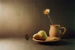 Poire et fleur image libre de droits