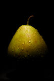 Poire humide photographie stock