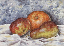 Poire, pomme, orange Illustration Stock