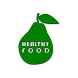 Poire saine de nourriture - illustration Images libres de droits