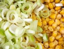 Poireau et maïs Image stock