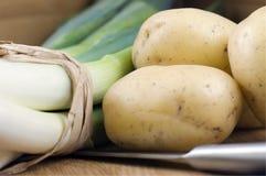 Poireaux et pommes de terre Photo libre de droits