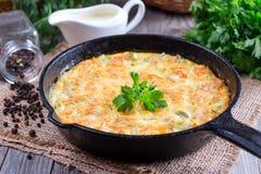 Poireaux frits avec du fromage Photos stock