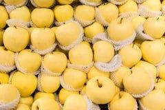 Poires dans le supermarché Photographie stock libre de droits