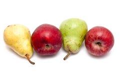 Poires de pommes, jaunes et vertes rouges Photos libres de droits