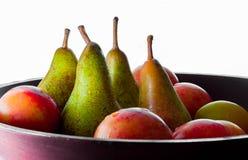 Poires et d'autres fruits photo stock