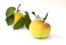 Poires et pomme Photographie stock
