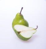 Poires ou 1 1/2 poires sur le fond Photographie stock libre de droits