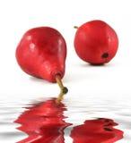 Poires rouges Photographie stock libre de droits